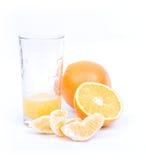 Oranges sur le fond blanc Images libres de droits