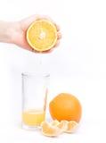 Oranges sur le fond blanc Photos stock