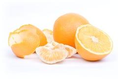 Oranges sur le fond blanc Photo libre de droits