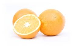 Oranges sur le fond blanc Image libre de droits