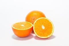 Oranges. Sweet orange fruit on white Royalty Free Stock Images