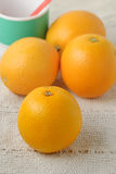 Oranges on table Royalty Free Stock Photography