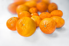 Oranges and tangerines. Close up of oranges and tangerines Royalty Free Stock Image