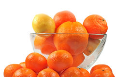 Oranges tangerines and lemon Stock Photos