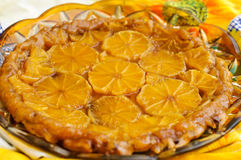 Oranges tart tatin Stock Photography