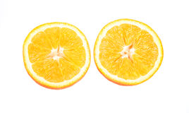 Oranges. Three oranges fruit on white background Stock Photography