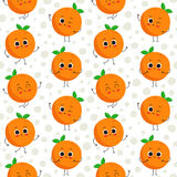 Oranges, vector seamless pattern Stock Photo