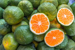Oranges vertes asiatiques images libres de droits