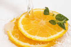 Oranges water Royalty Free Stock Photography