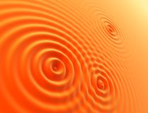 Oranges waves. The surface with several concentric waves stock illustration