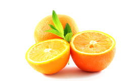 Oranges on white Royalty Free Stock Photos