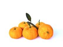 Oranges on the white Stock Photos