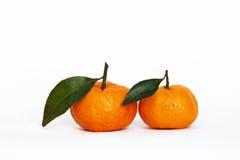 Oranges on white. A two oranges on white Royalty Free Stock Photography