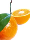 Oranges on a white. Background prepared Stock Photos