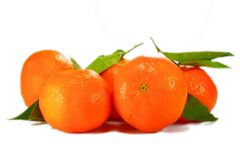 Oranges on white Stock Photography