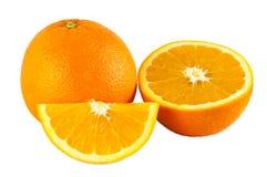 Oranges on white backgound Royalty Free Stock Photo