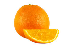 Oranges on white backgound Stock Images