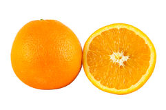 Oranges on white backgound Royalty Free Stock Image
