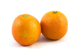Oranges on a white background Stock Photography