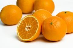 Oranges on white background Royalty Free Stock Image