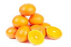 Oranges. On white background Royalty Free Stock Image