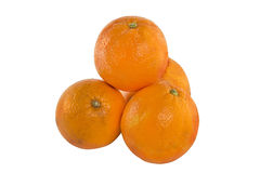 Oranges. On a white background Royalty Free Stock Images
