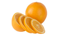 Oranges. On a white background Stock Photography