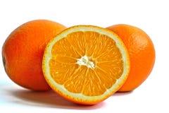 Oranges on a White Background Royalty Free Stock Photos