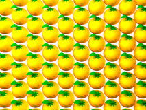 Oranges On White Background. 3D render illustration Stock Images