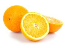 Oranges on white background Royalty Free Stock Photography
