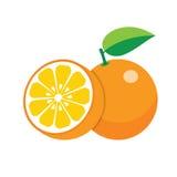 Oranges on white background Royalty Free Stock Images
