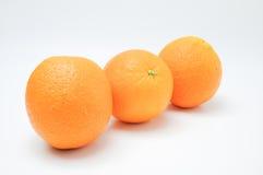 Oranges on white background Stock Images