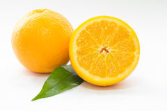 Oranges on a white surface. And Stock Photography