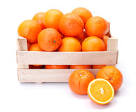 Oranges in wooden box Stock Image