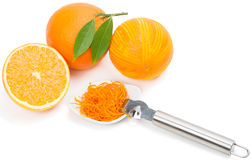 Oranges and zest. Stock Photo