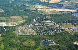 Orangeville Онтарио, воздушное Стоковые Фотографии RF