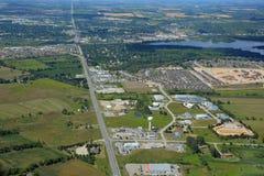 Orangeville Ontário, aéreo imagem de stock