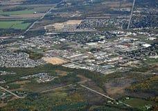 Orangeville Ontario, aéreo Imagen de archivo libre de regalías