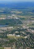 Orangeville Ontario, aérien Photos libres de droits