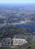 Orangeville Ontario, aereo fotografia stock