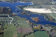 Orangeville Ontario, lucht Royalty-vrije Stock Afbeelding