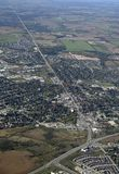 Orangeville Ontario, lucht Stock Afbeelding