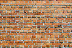 Orangey red brick wall background Royalty Free Stock Images
