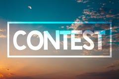 Orango blu della spiaggia di conquista di evento della concorrenza di torneo del gioco di significato di concetto di concorso del fotografia stock