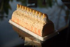 Orango del dolce del gelato fotografia stock