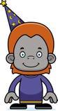 Orangotango de sorriso do feiticeiro dos desenhos animados Foto de Stock Royalty Free