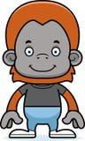 Orangotango de sorriso dos desenhos animados Fotos de Stock