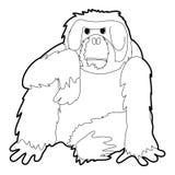 Orangutan icon outline Royalty Free Stock Photo