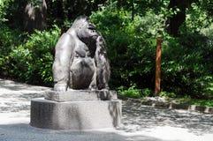 Orangutan statue in Berlin zoo stock photography