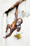 Orangutan Wall Mural Ernest Zacharevic Stock Photos